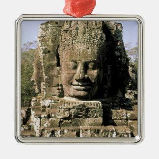 Asien Cambodja, Siem Reap. Angkor Thom huvud av Julgransprydnad Metall
