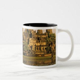 Asien Cambodja, Siem Reap. Angkor Wat. Två-Tonad Mugg