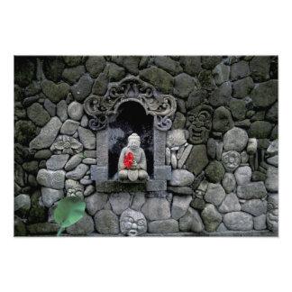Asien Indonesien, Bali. En relikskrin av Buddha Fototryck