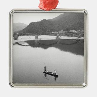 Asien Japan, Iwakuni. Fiskare och historiska 2 Julgransprydnad Metall