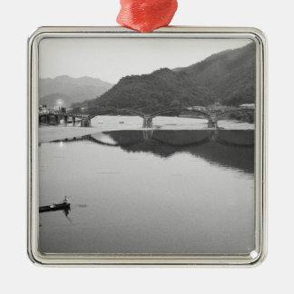 Asien Japan, Iwakuni. Fiskare och historiskt Julgransprydnad Metall