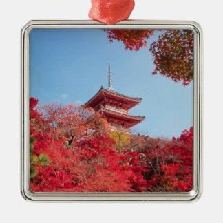 Asien Japan, Kyoto. Höstfärg Julgransprydnad Metall