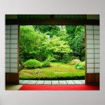 Asien Japan, Kyoto. Zenträdgård 2 Poster