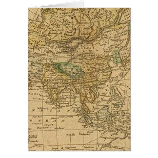 Asien karta vid Worcester Hälsningskort