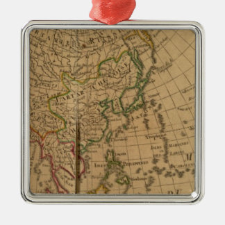 Asien kartbokkarta julgransprydnad metall