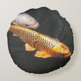 Asien Koi fisk Rund Kudde