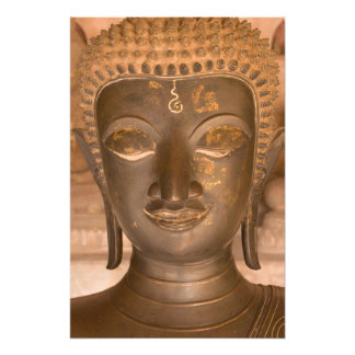 Asien Laos, Vientiane, brons skulptur på Wat Fototryck