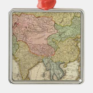 Asien räcker färgadkartan julgransprydnad metall
