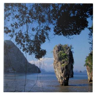 Asien Thailand, Ao Phangnga NP, coatline, Karst Kakelplatta