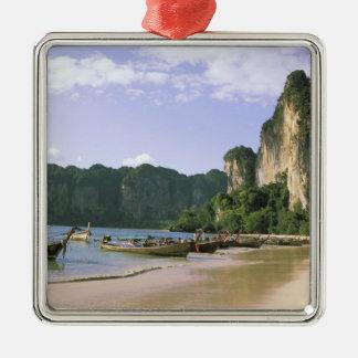Asien Thailand, Krabi. Västra Railay strand, long Julgransprydnad Metall
