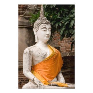 Asien Thailand, Siam, Buddha på Ayutthaya 2 Fototryck