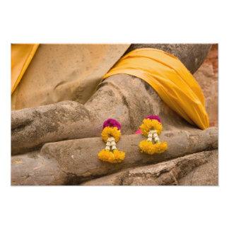 Asien Thailand, Siam, Buddha på Ayutthaya Fototryck