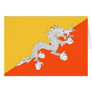 Åskadrakeflagga av Bhutan OBS Kort