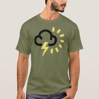 Åskastorm: Retro väderprognossymbol T Shirt