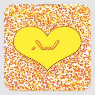 ASL--Ikärlek dig med hjärta av Shirley Taylor Fyrkantigt Klistermärke