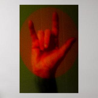 ASL undertecknar mig älskar dig Poster