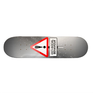 Asocial varning mini skateboard bräda 18,7 cm