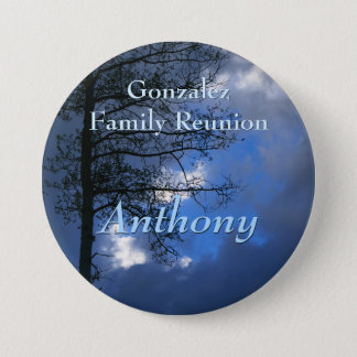 Asp- emblem för familjmötenamn mellanstor knapp rund 7.6 cm