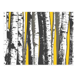 asp- träd vykort