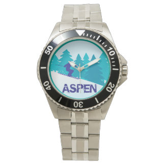 Aspen skidar cirklar armbandsur