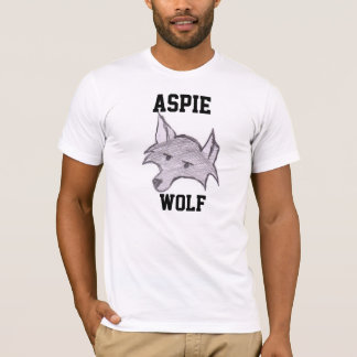 "Aspie varg""Wolfie"" T-tröja Tee Shirts"