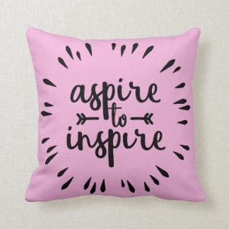 Aspirera för att inspirera kudder kudde