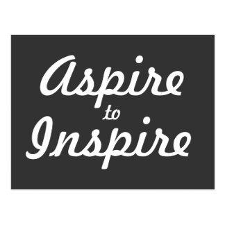 Aspirera inspirerar den Motivational vykortet Vykort