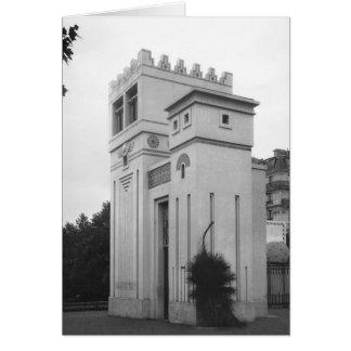 Assyriskt hus, universell utställning, Paris Hälsningskort