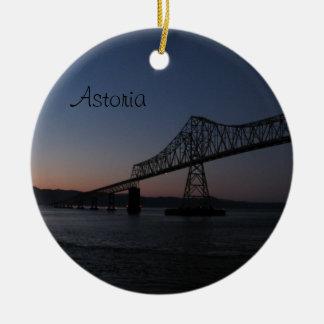 Astoria-Megler överbryggar, Oregon Julgransprydnad Keramik