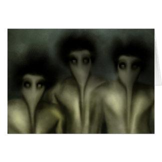 Astral demoner hälsningskort