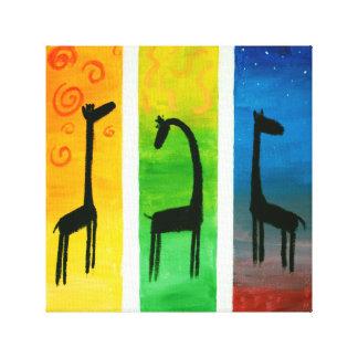 Astral giraff canvastryck