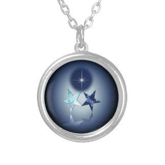 Astral ställe - Polstjärnan Silverpläterat Halsband