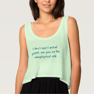 astral text tank top med flowy crop
