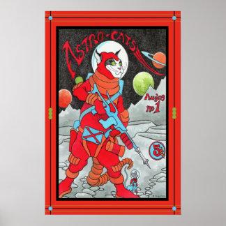 """""""Astro-Katter"""" affisch"""