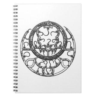 Astrolabium Anteckningsbok Med Spiral