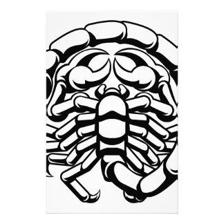 Astrologi för ScorpioScorpionZodiac undertecknar Brevpapper