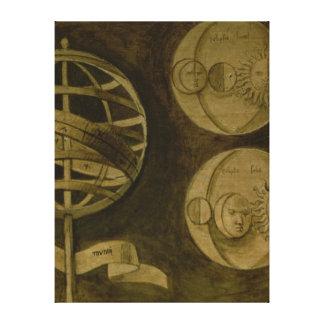 Astrologi: Olikt instrumenterar och Diagrams Canvastryck