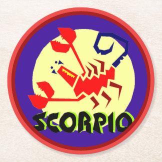 Astrologihoroskopet undertecknar Scorpiorundan Underlägg Papper Rund