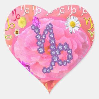 ASTROLOGIsamling Hjärtformat Klistermärke