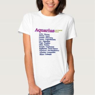 Astrologisk match för Aquarius den MUSEUMZazzle T-shirt