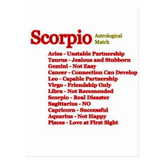 Astrologisk match för Scorpio de MUSEUMZazzle Vykort
