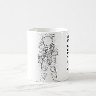 Astronaut på månen kaffemugg