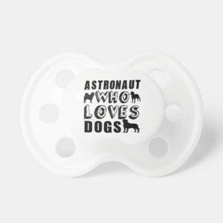 astronaut som älskar hundar napp