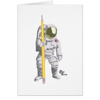 Astronauthälsningkort Hälsningskort