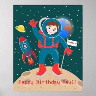 Astronautungefödelsedagsfest Poster