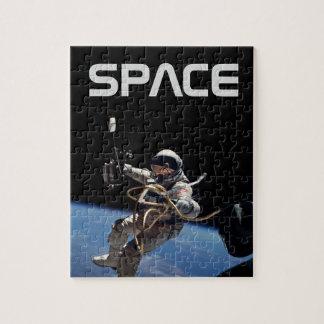 Astronaututrymme går pussel