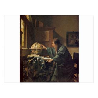 Astronomen av Johannes Vermeer Vykort