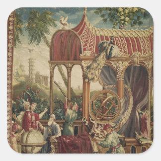 Astronomerna, Beauvais seminarium, 1711 Fyrkantigt Klistermärke