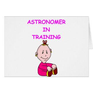astronomibebis hälsnings kort