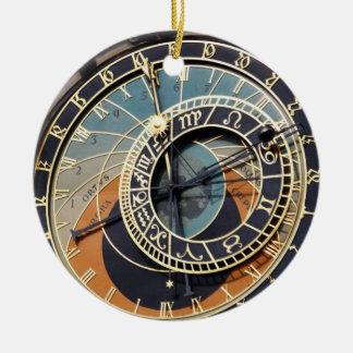 Astronomical ta tid på i Praque Julgransprydnad Keramik